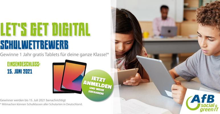 "AfB Schulwettbewerb ""Let`s get digital"""