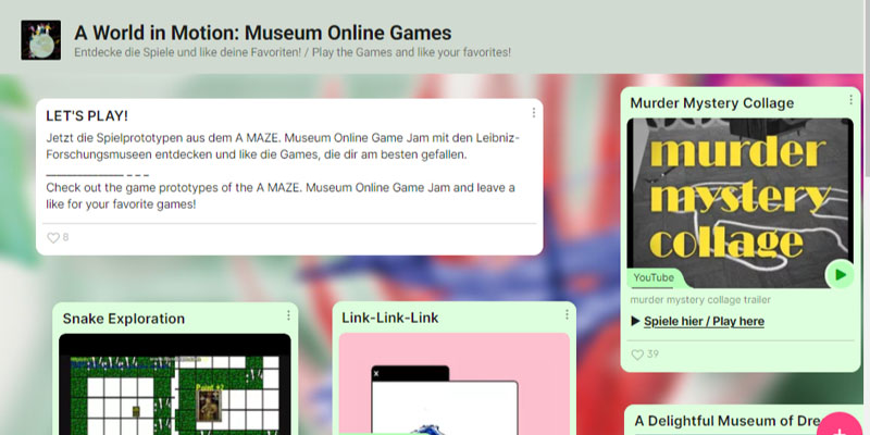 A MAZE. Museum Online Game Jam: A World in Motion